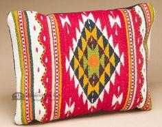 Woven Zapotec Southwest Style Wool Pillow 12x16 (u)