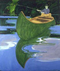 Man in Canoe - Neil Welliver   1966