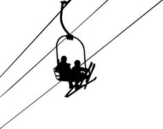 Ski Lift with Skiers and Cables Vinyl Decal by VinylMyWalls