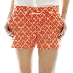 For my soon to be skinny, tan legs :)Joe Fresh™ Piped Jacquard Shorts - jcpenney