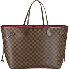 bd81a57d179b Louis Vuitton Damier Ebene Canvas Neverfull PM N51109 Size  11.2