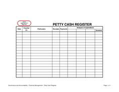 17 best accounting petty cash images on pinterest sample resume