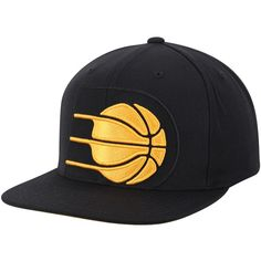 2eb0d723f8a234 Men's Indiana Pacers Mitchell & Ness Black Cropped XL Adjustable Snapback  Hat, $31.99