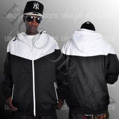 Urban Classics Arrow Letní černá bílá bunda Nike Jacket, Rain Jacket, Urban Classics, Arrow, Windbreaker, Athletic, Jackets, Fashion, Down Jackets