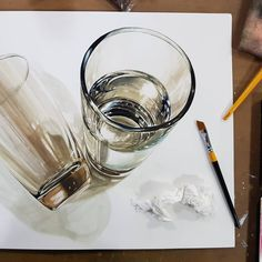 Object Drawing, Realistic Paintings, Pencil Drawings, Colored Pencils, Design Art, Sketches, Watercolor, Artist, Fantasy Art