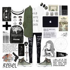 """""""Your my salvation."""" by pvnkrxckbztches ❤ liked on Polyvore featuring Zoe Karssen, Zara, Converse, GE, TokyoMilk, Topshop, Bling Jewelry and Charlotte Russe"""