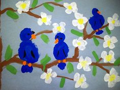 Missouri Bluebirds and Dogwood Trees-1st Grade