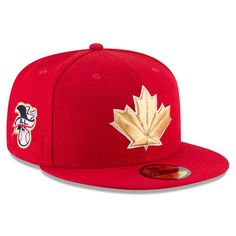 official photos 257d2 427df Men s Toronto Blue Jays New Era Red 2018 Stars   Stripes 4th of July On-Field  59FIFTY Fitted Hat. Canada DayToronto ...