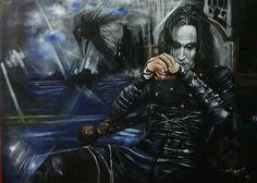 The Crow Brandon Lee - Artist: Daking Y Ecuador, Brandon Lee, Good Movies, Crow, Darth Vader, Artist, Fictional Characters, Addiction, Eyes