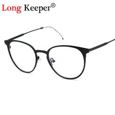 a0af7b38e3dd8 Long Keeper Retro Round Eyes Glasses Frame Men Women Ultra Light Vintage  Eyeglasses Frame Plain Lens