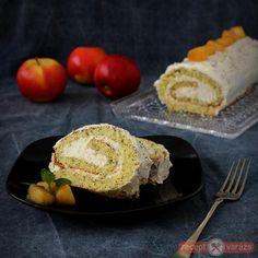 Mákos piskótarolád almás mascarponekrémmel Looks Yummy, French Toast, Eggs, Mint, Snacks, Breakfast, Healthy, Cake, Food