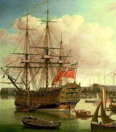 Old Sailing Ships, Ship Of The Line, Ship Drawing, Man Of War, Ship Paintings, Naval History, Wooden Ship, Nautical Art, Tug Boats