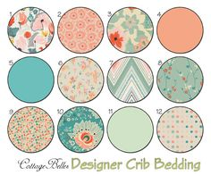 Choose Your Items  Crib and Toddler Bedding  by CottageBelles, $20.00