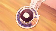 Discover & share this My Tamako GIF with everyone you know. GIPHY is how you search, share, discover, and create GIFs. Anime Bento, Anime Coffee, Coffee Gif, I Love Coffee, Anime Gifs, Fanarts Anime, Anime Art, Gif Café, Main Manga