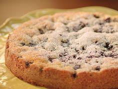 Blueberry Cake with Lemon-Mascarpone Cream recipe from Valerie Bertinelli via Food Network