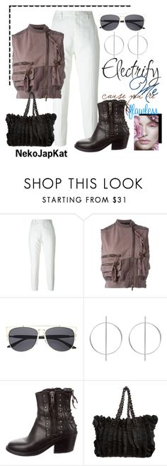 """cropped vest"" by neko-m-tucker-smith ❤ liked on Polyvore featuring Haider Ackermann, Witchery and Prada"