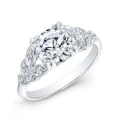 Platnium Art Deco Diamond Ring - Platinum Art Deco style diamond ring with an old european cut diamond of 1.31 cts.