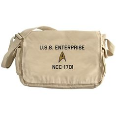USS Enterprise NCC-1701 Messenger Bag on CafePress.com