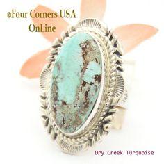 Four Corners USA Online - Size 7 3/4 Dry Creek Turquoise Large Stone Ring Navajo Artisan Thomas Francisco NAR-1710, $233.00 (http://stores.fourcornersusaonline.com/size-7-3-4-dry-creek-turquoise-large-stone-ring-navajo-artisan-thomas-francisco-nar-1710/)
