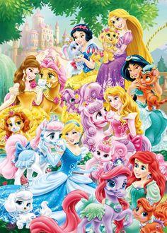 Princesas e Pets