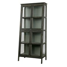 L'armoire design asymétrique en bois noir Herritage est disponible chez Drawer en un seul coloris ( noir )