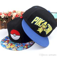 Cool fitted hats of various colors, wearing classical baseball hats or newsboy cap delicately designed provided by ching123 can make you the coolest with poke caps mon hat pocket monster pikachu flat hip hop snapback caps hat for adult men women.