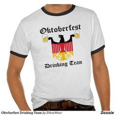 Oktoberfest Drinking Team Basic Ringer printed T-Shirt. Prost!