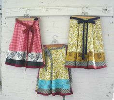 Love these handmade skirts
