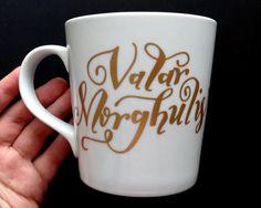 Valar Morghulis Game of Thrones Coffee Mug by TypecastLettering
