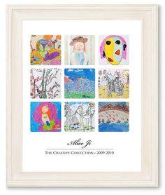 art13 Childrens Artwork, Kids Artwork, Diy Painting, Painting Frames, Magnetic Paint, Diy And Crafts, Arts And Crafts, Artwork Display, Diy Frame