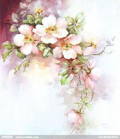Ручная роспись цветы картины - живопись - декоративный материал - материал для бесплатного скачивания - Творцы Галерея (1423074) 11
