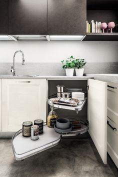 la cucina ad angolo di arrex bella e funzionale