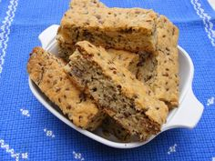 Buttermilk rusks with all bran flakes, oats, sunflower seeds, sesame, pecan nuts and linseeds. Buttermilk Rusks, Rusk Recipe, Recipe Box, Cooking Brussel Sprouts, All Bran, Biscotti Recipe, Pecan Nuts, Healthy Cake, Baking Tins