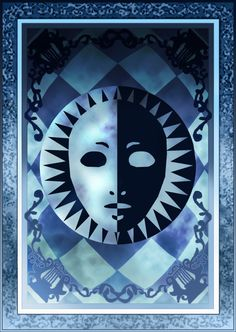 Persona 3/4 Velvet Room Tarot Card Deck - Back HR by Enetirnel on DeviantArt