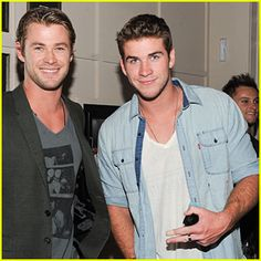 Chris and Liam Hemsworth. ahh