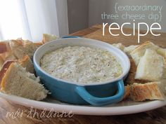 Extraordinary Three Cheese Dip | Game Day Recipe