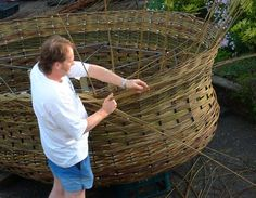 """giant basket by Lee Southall ~bringing new meaning to """"basket case""""..."""