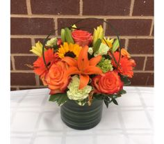 Orangeade in Princeton, Plainsboro, & Trenton NJ, Monday Morning Flower and Balloon Co. Rose Flower Arrangements, Fast Flowers, Morning Flowers, Monday Morning, Flower Delivery, Floral Designs, All The Colors, Favorite Color, Balloons