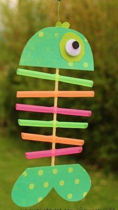 The most fun plan! The best crafts for children - Fisch Krafts Ideen Kids Crafts, Animal Crafts For Kids, Summer Crafts For Kids, Toddler Crafts, Preschool Crafts, Diy For Kids, Diy And Crafts, Paper Crafts, Diy Paper