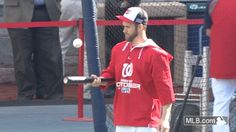 Bryce Harper bounces baseball on bat like that Tiger Woods commercial