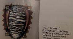 Pressed Metal, Japanese Fabric, Shibori, Copper, Brass
