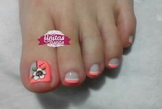 Hot Trendy Nail Art Designs that You Will Love Dot Nail Designs, Pedicure Designs, Pedicure Nail Art, Toe Nail Art, Manicure And Pedicure, Painted Toe Nails, Cute Toe Nails, Trendy Nails, Beauty Nails