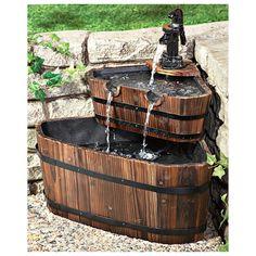 CASTLECREEK® Double Barrel Fountain