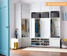 Entryway lockers with bench mudroom closet ideas image of storage picture small hallway cubbies medium . Coat Rack Bench, Coat Racks, Closet Storage, Entryway Storage, Garage Storage, Entryway Decor, Room Closet, Home Organization, Organizing