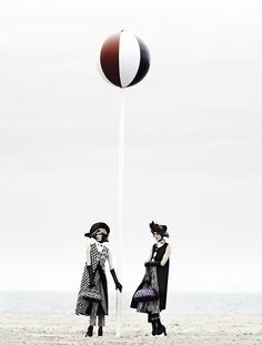 Stella Tennant and Marte van Haaster - Mario Testino - September 2012 issue