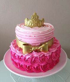 Aurora Cake, Sleeping Beauty Party, Princess Theme Birthday, Torta Baby Shower, Quinceanera Cakes, Baby Birthday Cakes, Baby Shower Princess, Girl Cakes, Cute Cakes