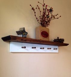 Rustic Shelf with Key Holder  Rustic by CountryMadeMemories, $29.99