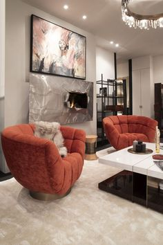 This beautiful living room just gets an elevated design with the ERUPTION Wall Fire, creating an even more welcoming ambience alongside the ESSEX Armchair and LALLAN Centre Table, this firewall will cosy-up any conversation!
