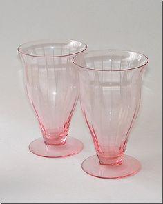depression glassware | pink depression glass