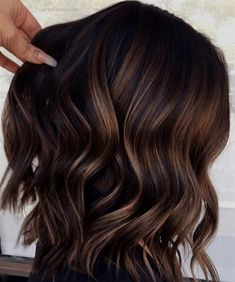 Brunette Color, Balayage Brunette, Hair Color Balayage, Ombre Hair, Balayage Highlights, Brunette Hair, Gorgeous Hair Color, Cool Hair Color, Hair Colour